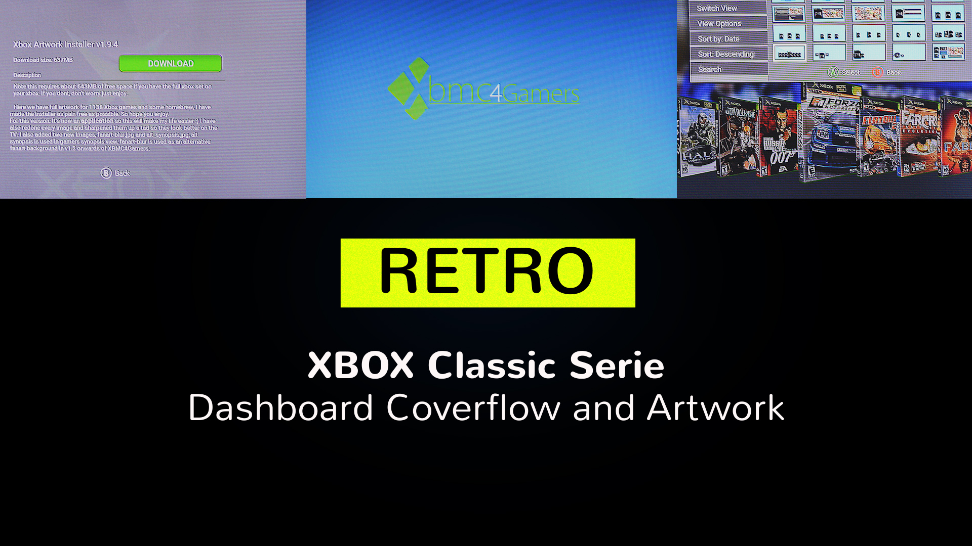 XBOX Classic Serie - XMBC Dashboard coverflow artwork nutzen